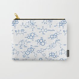 Blue Molecules Carry-All Pouch