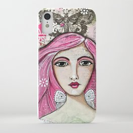Believe in Your Own Magic Mixed Media Fairy Girl iPhone Case