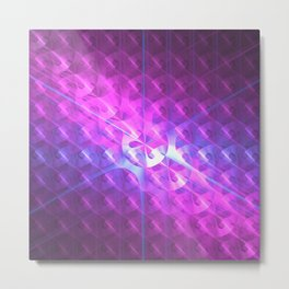 Shiny Purple Button Metal Print