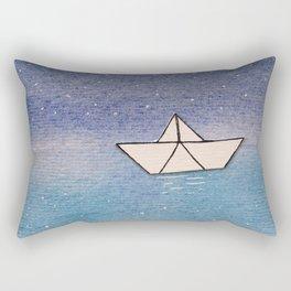 P'tit bateau de papier / Little paper boat Rectangular Pillow
