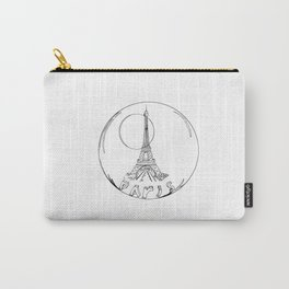 paris in a glass ball without a shadow Carry-All Pouch