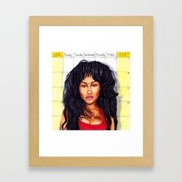 I'm the Weekend Framed Art Print