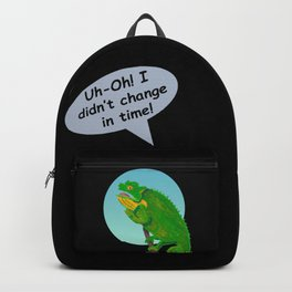 Late Chameleon in Ink and Marker Edition 1 Backpack