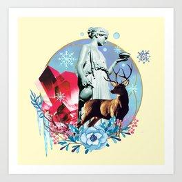 Winter Goddess Art Print