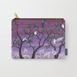 calla lilies & tree swallows Carry-All Pouch