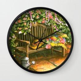 Garden Bench Wall Clock