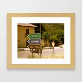 Italian Signage  Framed Art Print