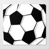 soccer Canvas Prints featuring Soccer by An Luong
