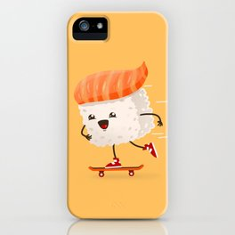Kawaii sushi skateboarding iPhone Case