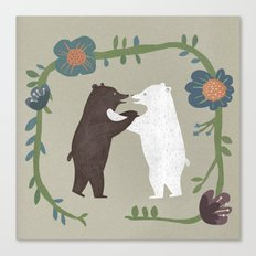 Hugging bears Canvas Print