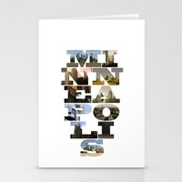 minneapolis Stationery Cards featuring Minneapolis Collage by Jeremy Jon Myers