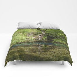 River spring in the forest Comforters