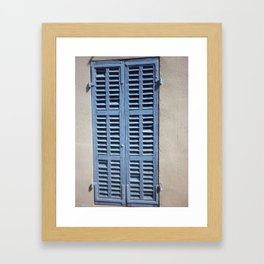 blue windows Framed Art Print