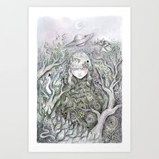 Mother Earth was a child once Art Print