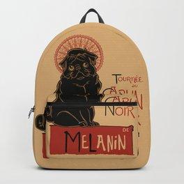 Le Carlin Noir (The Black Pug) Backpack