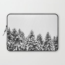 White Snow Forest No1 Laptop Sleeve