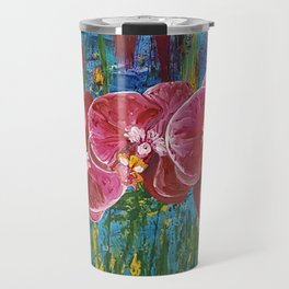 Magenta Orchids Travel Mug