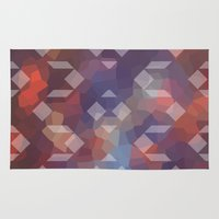 geo Area & Throw Rugs featuring geo by Penny Pixel