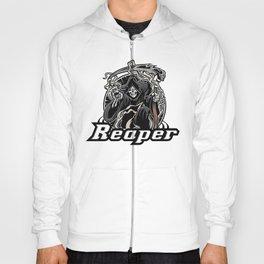 Illustration of grim reaper on white background Hoody