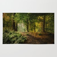 woodland Area & Throw Rugs featuring Woodland by BlueMoonArt