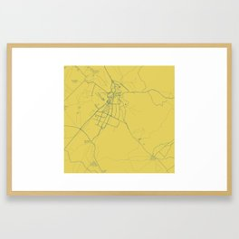 Minimalist Modern Map of Kirkuk, Kurdistan, Iraq 2 Framed Art Print