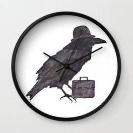 Stockbroker Raven Wall Clock