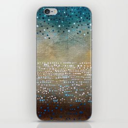 Landscape Dots - Turquoise iPhone Skin