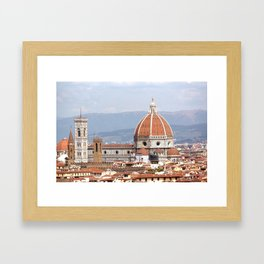 Florence cathedral dome photography Framed Art Print