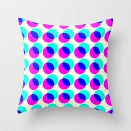 dots pop pattern Throw Pillow