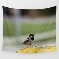 sparrow Wall Tapestries featuring Sparrow Fellow by IowaShots