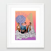 posters Framed Art Prints featuring Posters by Claudia Reese