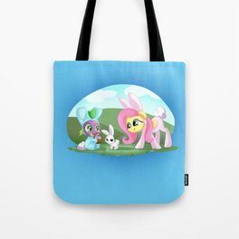 Spike,Angel and Fluttershy Tote Bag