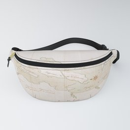 Vintage Map of Lake Champlain (1759) Fanny Pack