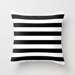Black & White Stripes Throw Pillow