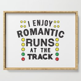 Romantic runs at the track Serving Tray