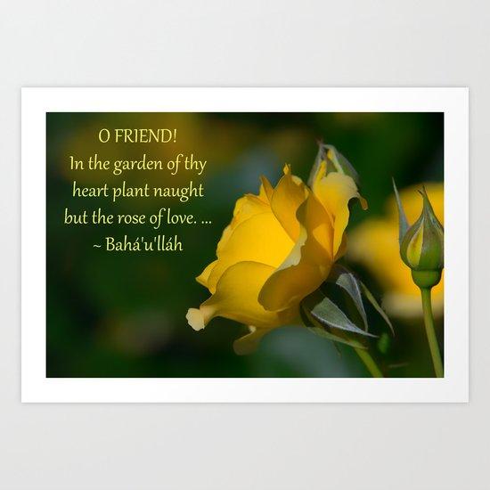 In The Garden Of Thy Heart Art Print