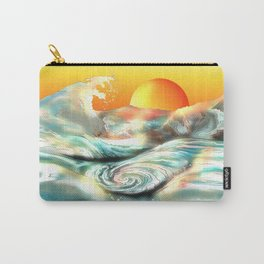 Sunset at Awa whirlpool rapids in Japan Carry-All Pouch