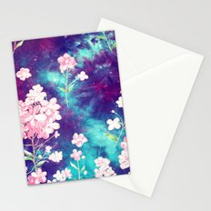 Space Flowers Stationery Cards