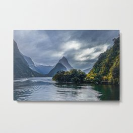 Milford Sound, fiordland national park, New Zealand Metal Print
