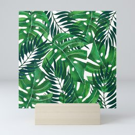 Jungle leaves Mini Art Print