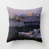 """greece Throw Pillows featuring Greece by """"CVogiatzi."""