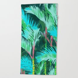Palm Forest Beach Towel
