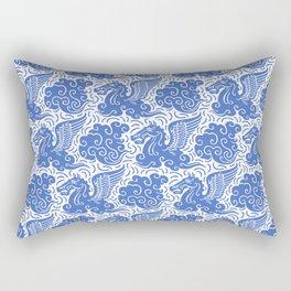 Pegasus Pattern Blue Rectangular Pillow