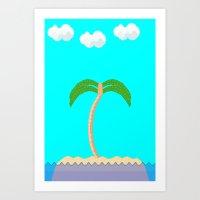 Small Island Art Print