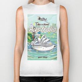 Australia vintage travel poster Biker Tank