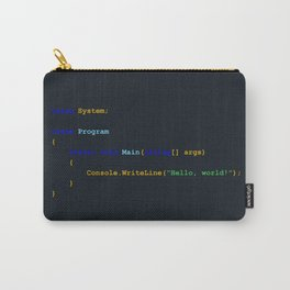 C# Hello World Carry-All Pouch