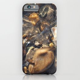 Pebbles in the Water iPhone Case