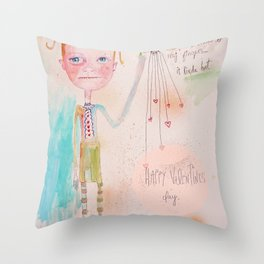 The Awkward Valentine Throw Pillow
