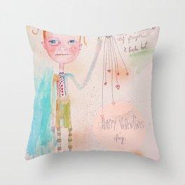 The Awkward Valentine Throw Pillow
