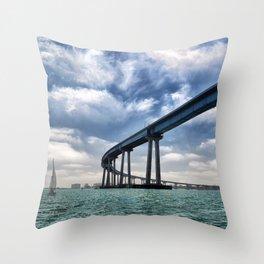 Coronado Bridge Throw Pillow